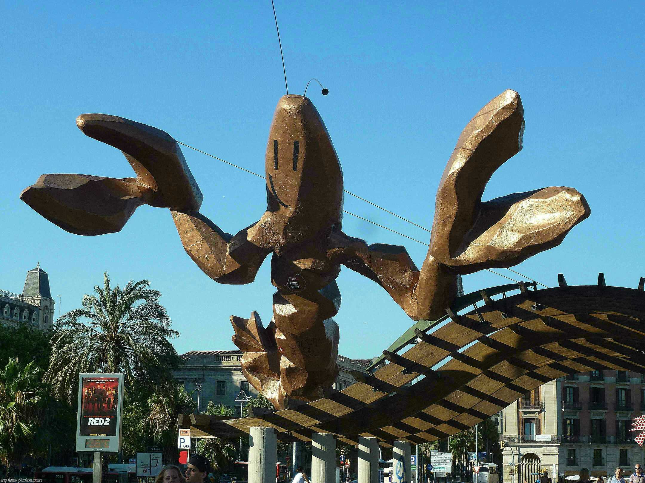 Giant wooden lobster,Barcelona