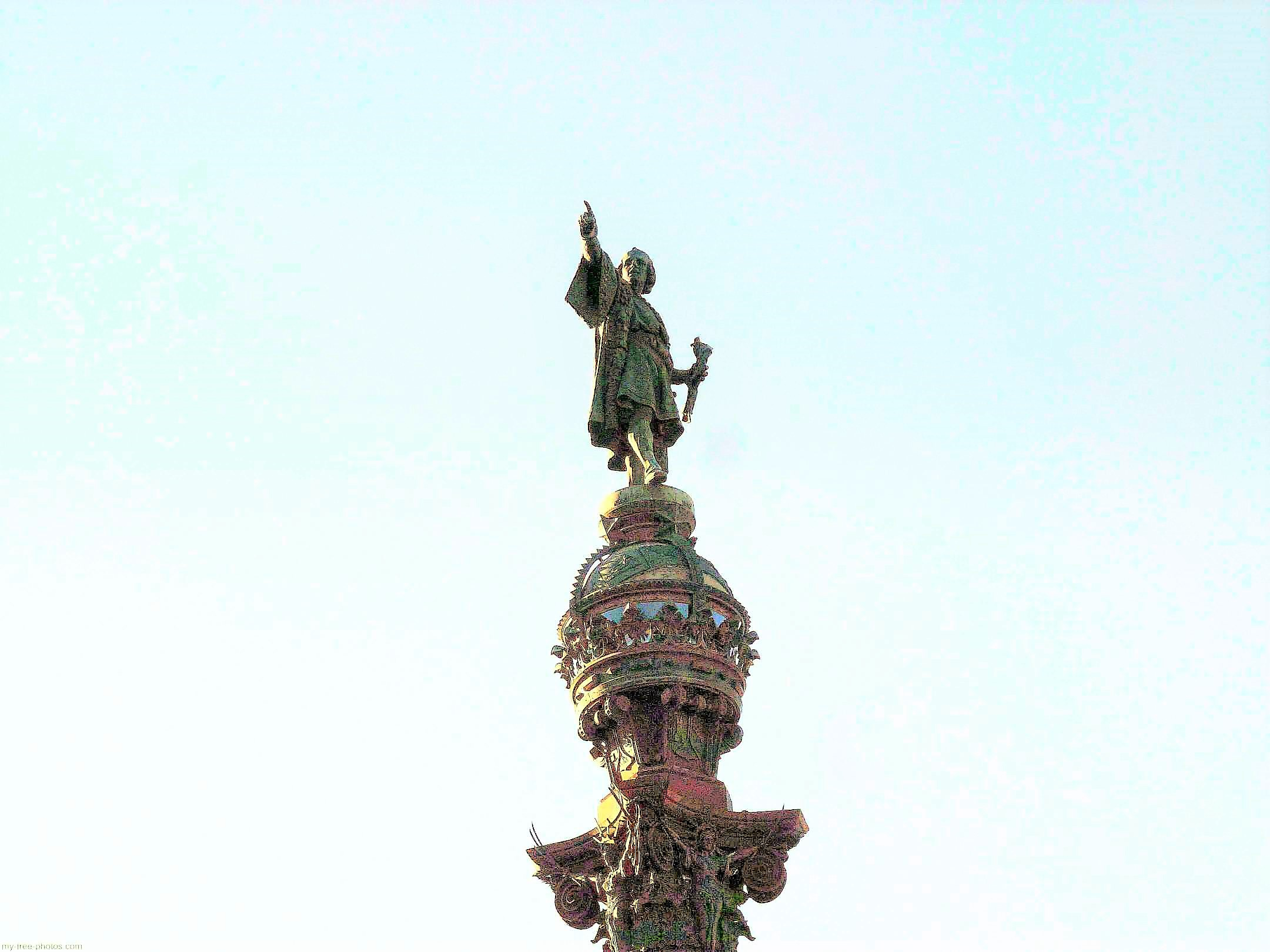 Columbus  monument , Barcelona, Spain