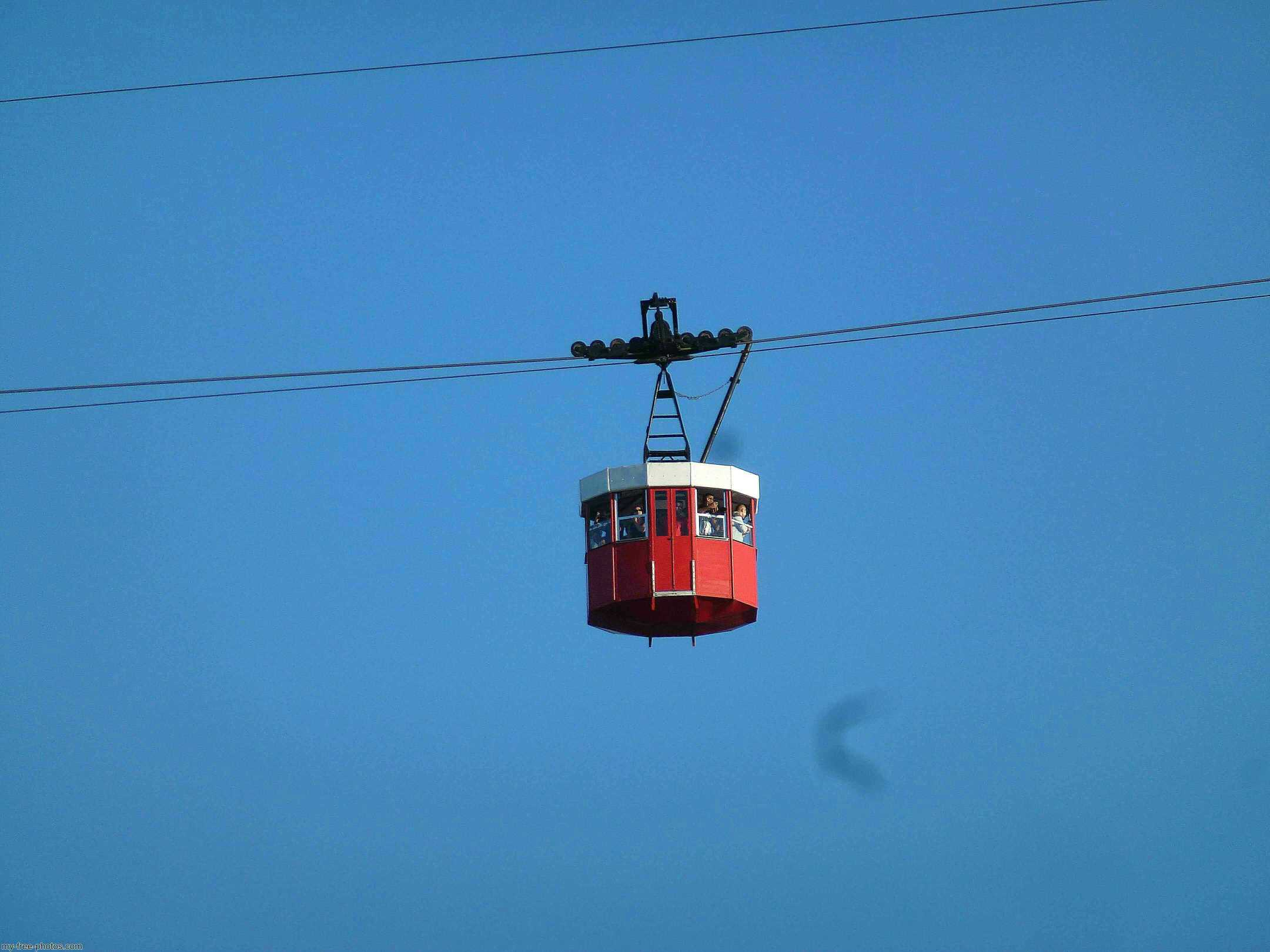 Port Vell  Aerial Tramway in Barcelona, Catalonia, Spain