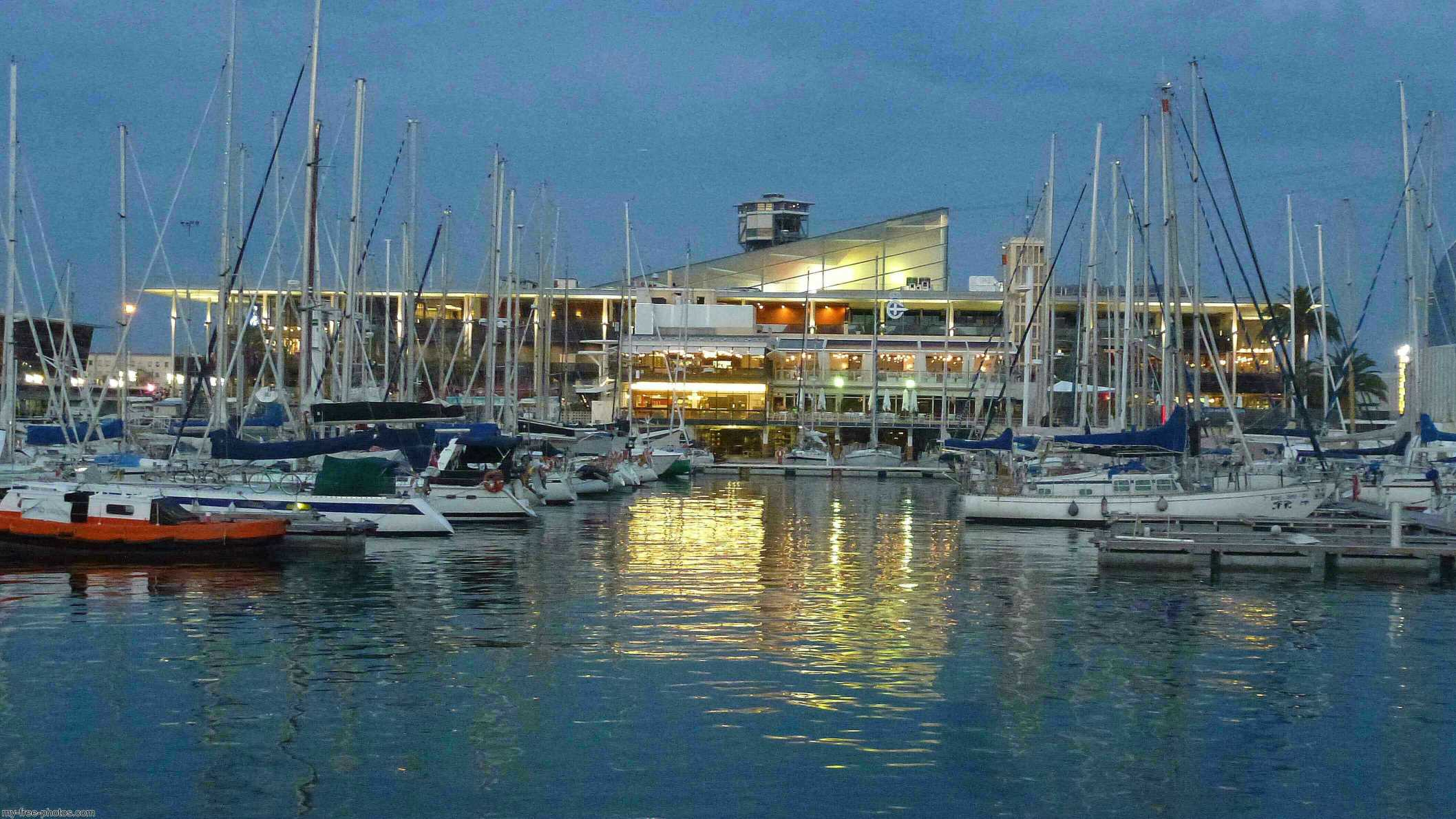 Port Vell in Barcelona, Catalonia, Spain
