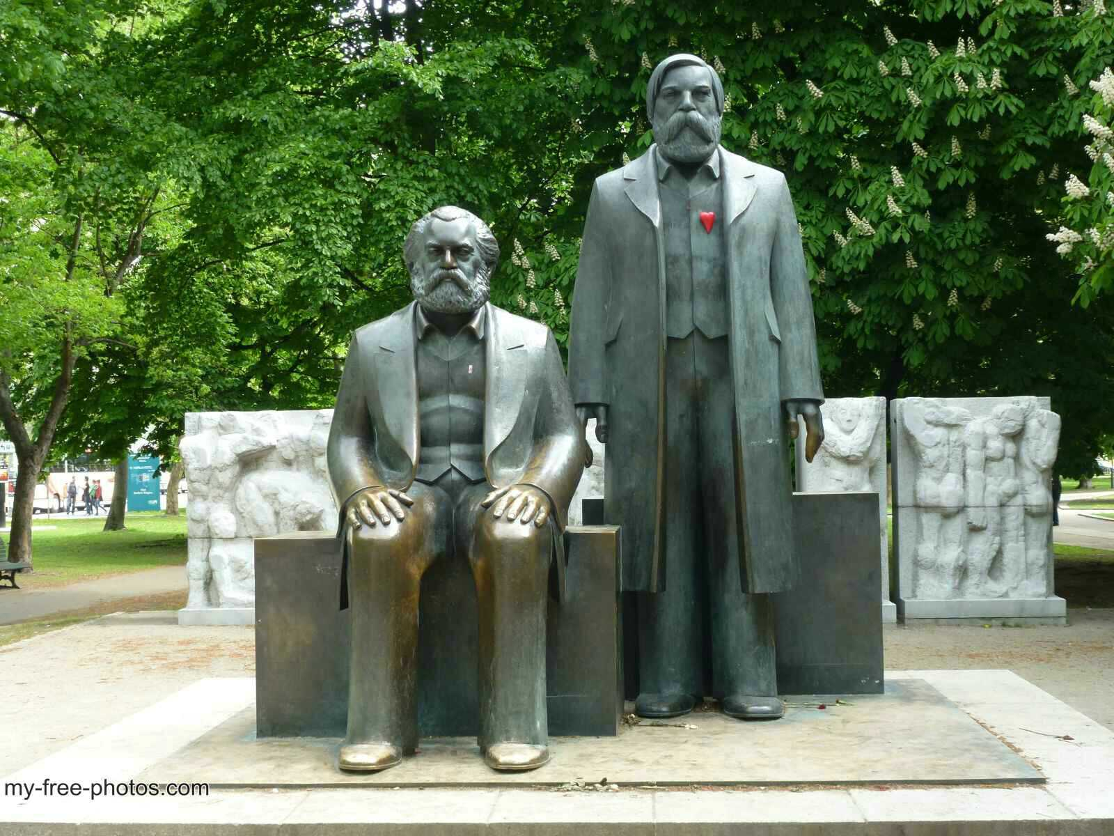 Marx and Engels, Berlin.