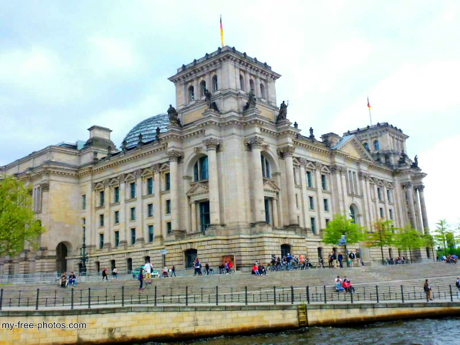The Reichstag building.