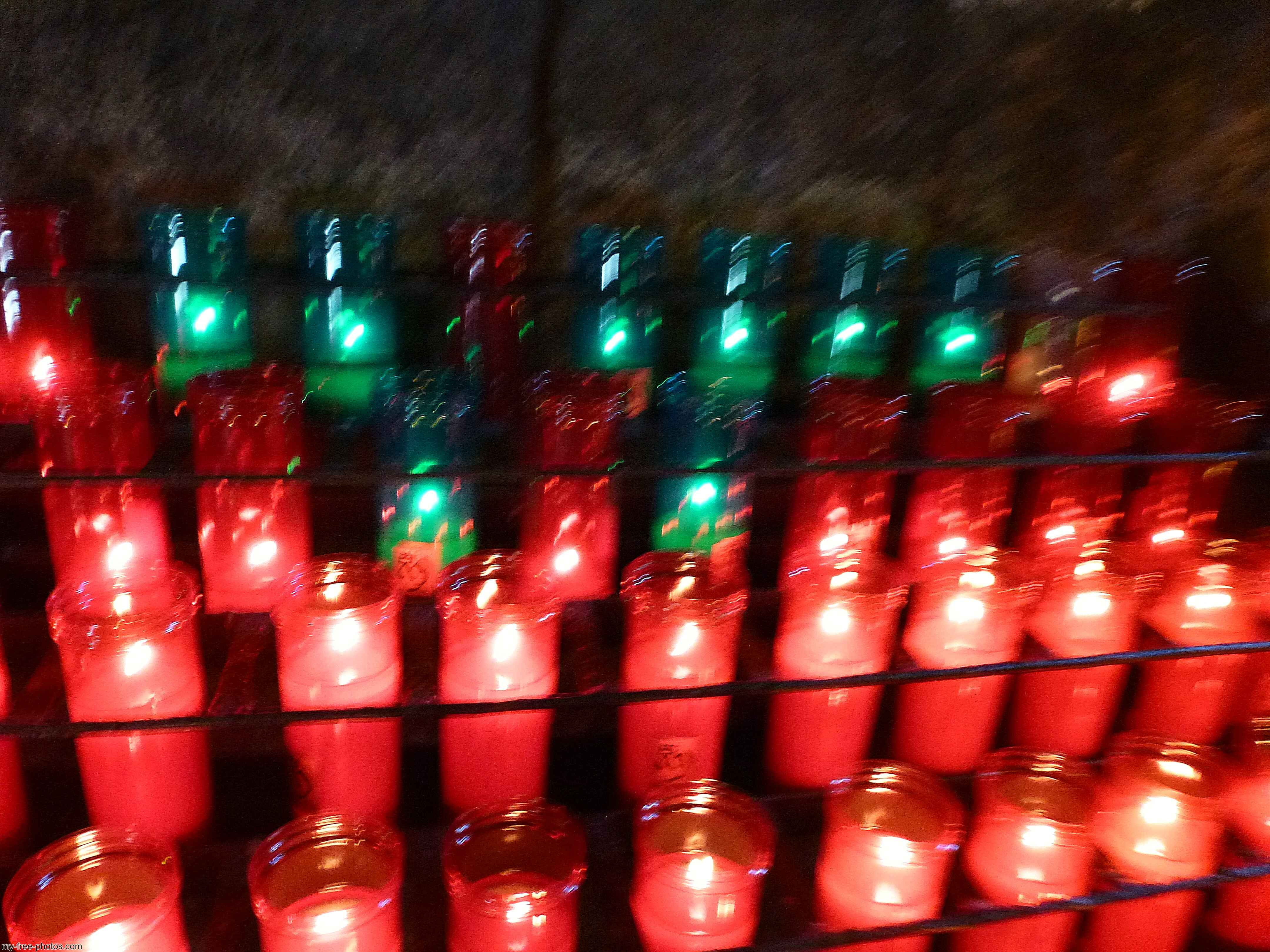 Montserrat, Spain, Prayer candles