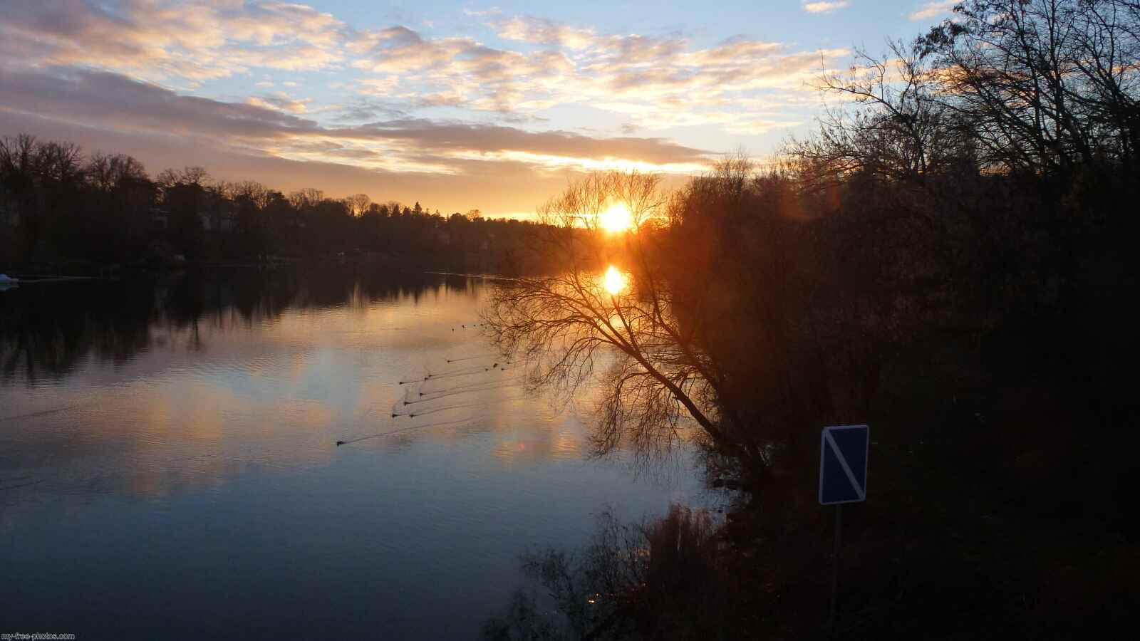 Sunset over wannsee