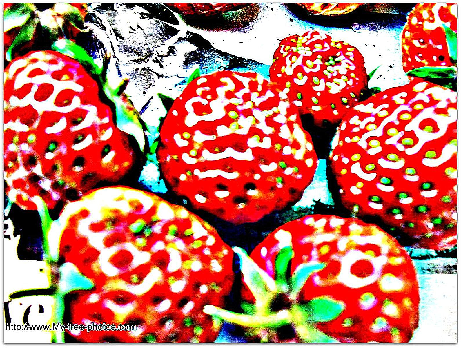Strawberries, abstract