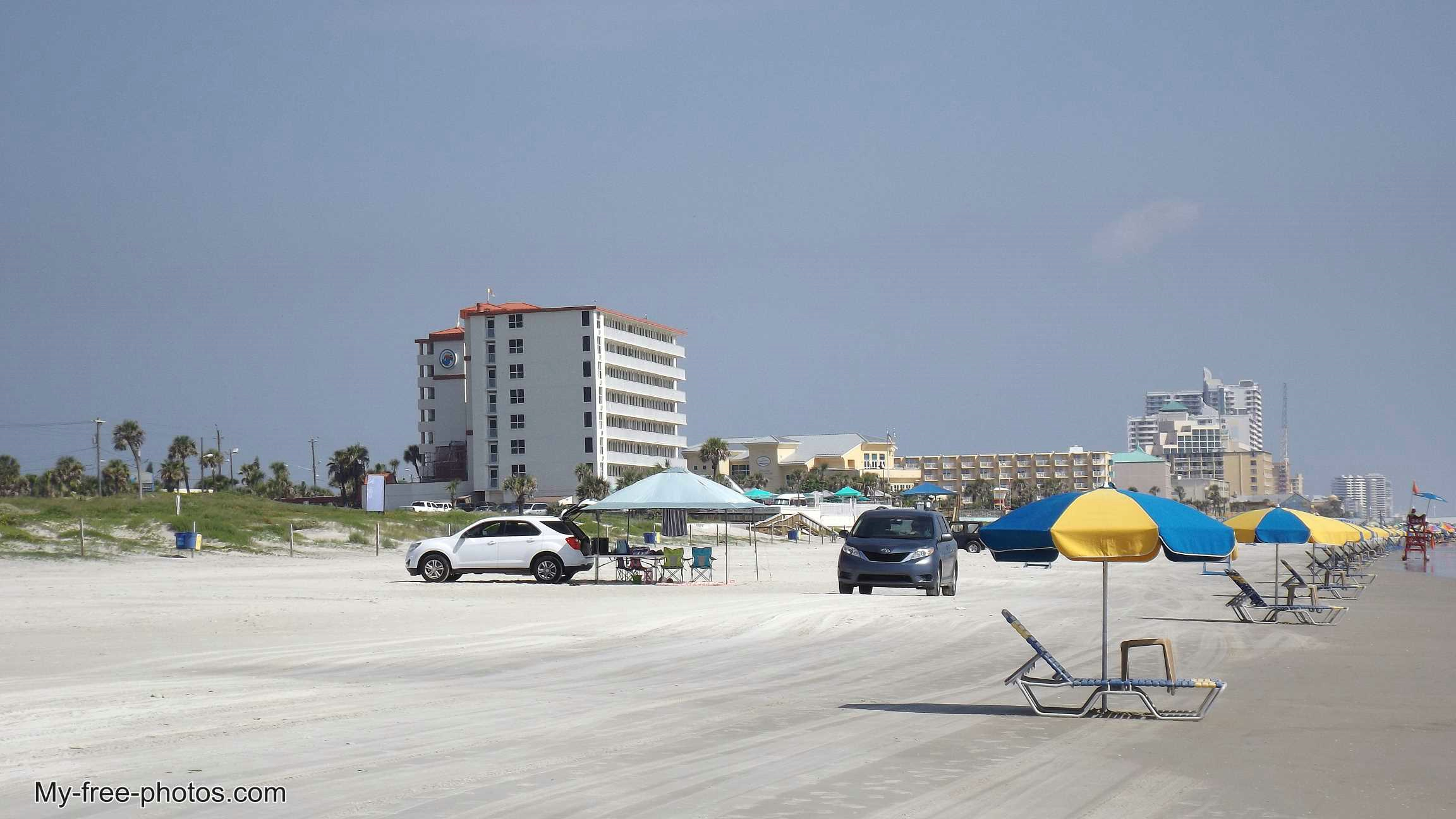Cars on Daytona Beach