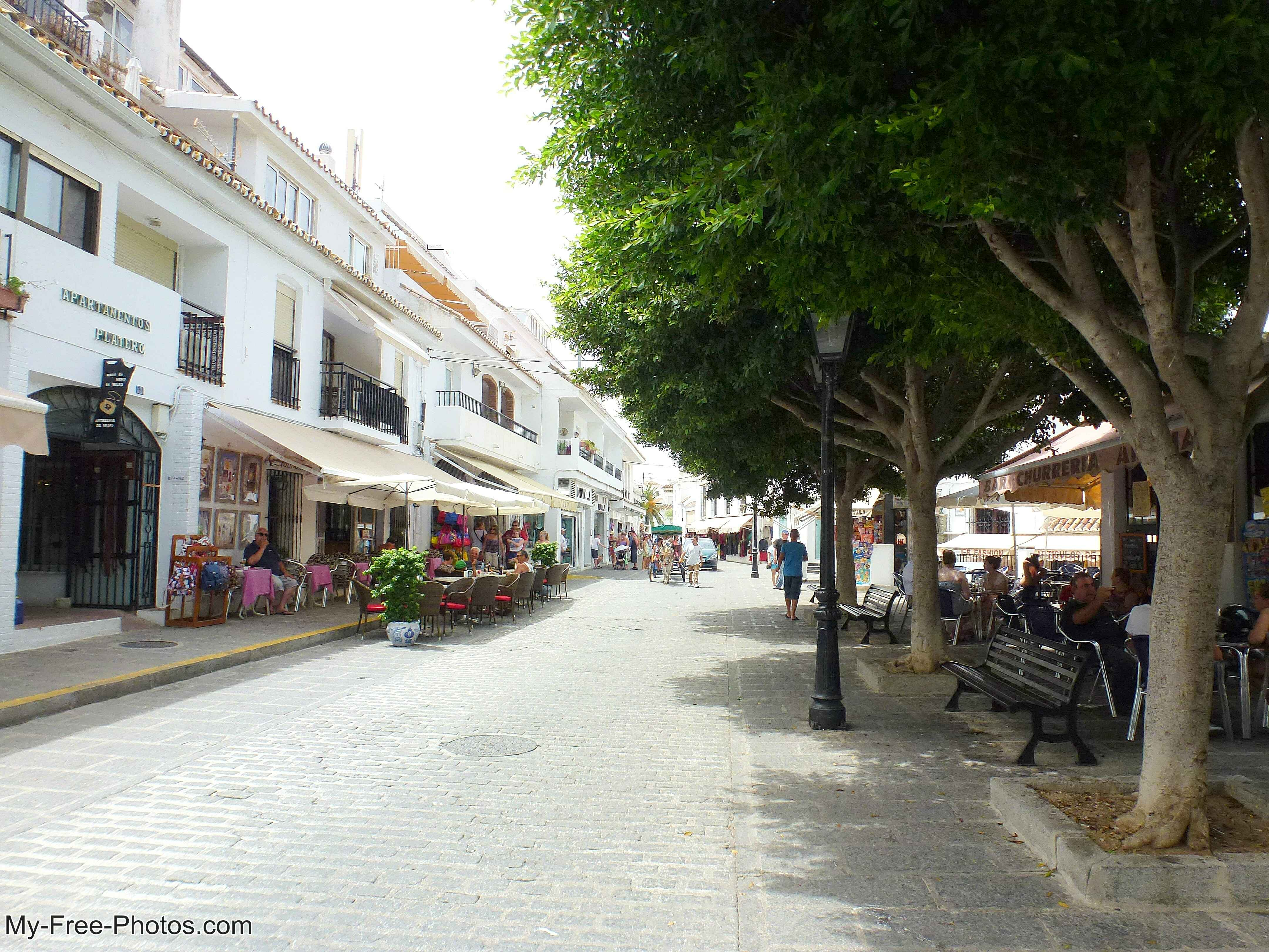 Mijas,pueblo style buildings, Spain