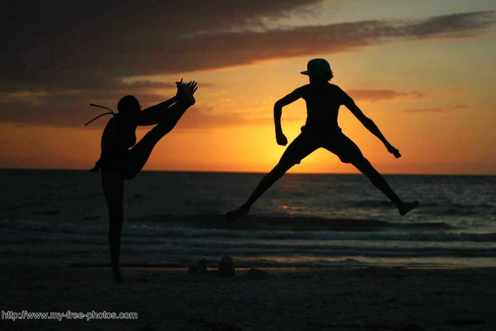 sunset dancers