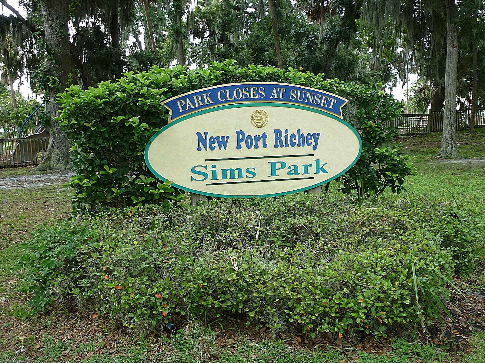 Newport richey,Sims Park